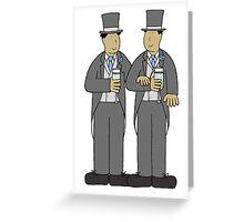 Gay grooms civil partnership. Greeting Card