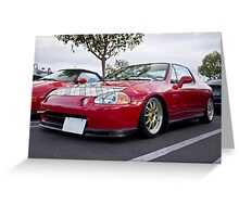 My Honda Del Sol Greeting Card