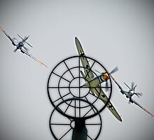 3 to 1 Outgunned!!  - Duxford Flying Legends 2013 by Colin  Williams Photography