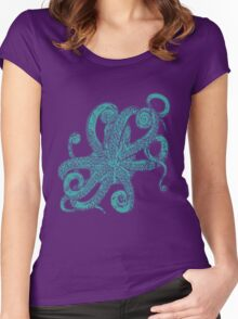 the octopus Women's Fitted Scoop T-Shirt