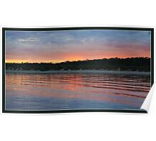 The sunrise, remote shower and reflections Poster