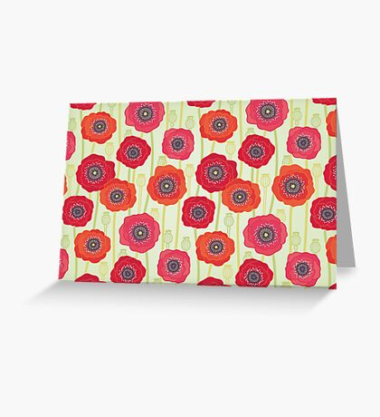 Poppies field Greeting Card
