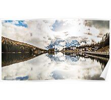 Misurina lake in the dolomiti Poster