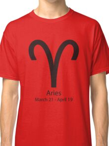 Zodiac sign Aries March 21 - April 19 Classic T-Shirt