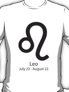 Zodiac sign Leo July 23 - August 22 T-Shirt
