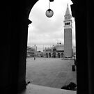 San Marco in the rain by hans p olsen