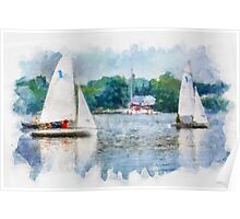 A fine day for Sailing Poster