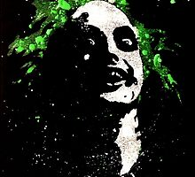 Beetlejuice acrylic splatter by justin13art
