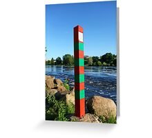 state boundary Greeting Card
