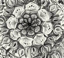 Messy Boho Floral in Charcoal and Cream  Sticker