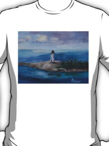 Nassau Harbour Lighthouse Original Painting T-Shirt