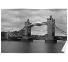 Thames In Grey Poster