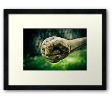 Wooden fist Framed Print