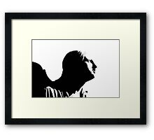 Profile of an Angel Framed Print