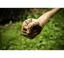 Wooden fist Photographic Print