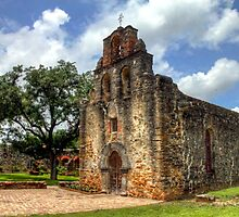 Mission San Francisco de la Espada - San Antonio, Texas by Terence Russell