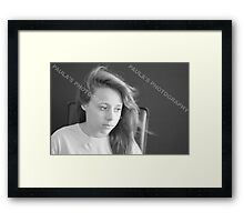 PROFESSIONAL PHOTOGRAPHER IN THE STUDIO Framed Print