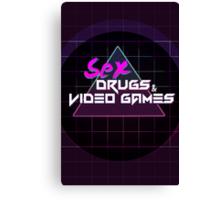 Sex, Drugs & Video Games Canvas Print