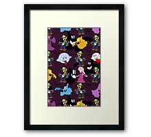 Luigi's Mansion Pattern Framed Print