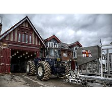 Cullercoats RNLI Tractor Photographic Print
