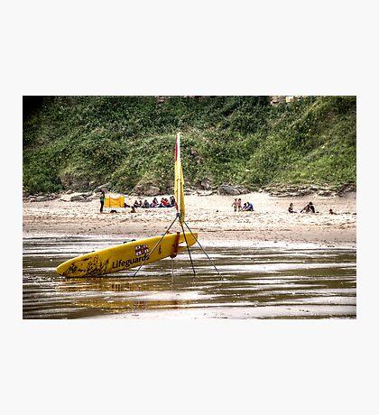 RNLI Lifeguard Surfboard Photographic Print