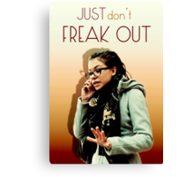 Just don't freak out - Cosima Orphan Black Canvas Print