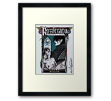 Rozzferatu - Fan Art for Rozz Williams Framed Print