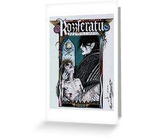 Rozzferatu - Fan Art for Rozz Williams Greeting Card