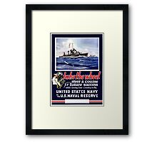 Take The Wheel -- United States Navy Framed Print