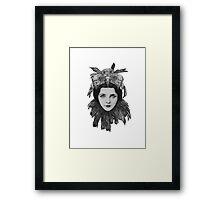 Dame Bird Skull Framed Print