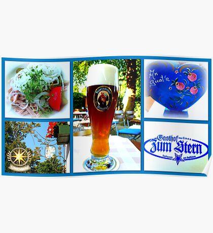 Bavarian Beergarden Bliss Poster