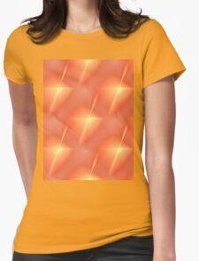 Fractal Orange Star Womens Fitted T-Shirt