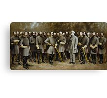 Robert E. Lee and His Generals -- Civil War Canvas Print