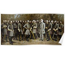Robert E. Lee and His Generals -- Civil War Poster