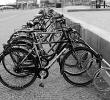 Bicyles - Black & White by Julie Paterson