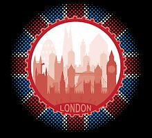 London City Skyline - black by SwanStarDesigns