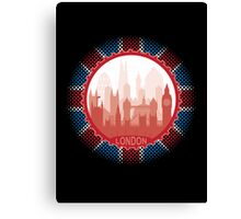 London City Skyline - black Canvas Print