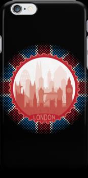 London City Skyline - black by SwanStarDesigns