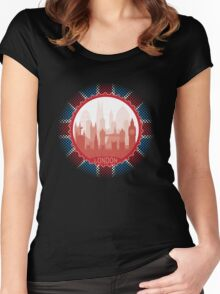 London City Skyline - black Women's Fitted Scoop T-Shirt
