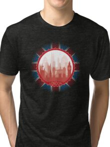 London City Skyline - black Tri-blend T-Shirt