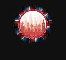 London City Skyline - black Womens Fitted T-Shirt