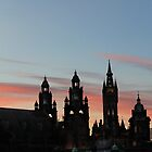 Sunset Kelvingrove by Julie Paterson