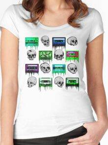 Skulls and creepy Tapes Women's Fitted Scoop T-Shirt