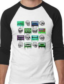 Skulls and creepy Tapes Men's Baseball ¾ T-Shirt