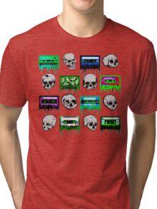 Skulls and creepy Tapes Tri-blend T-Shirt