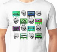 Skulls and creepy Tapes Unisex T-Shirt