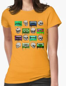 Skulls and creepy Tapes Womens Fitted T-Shirt