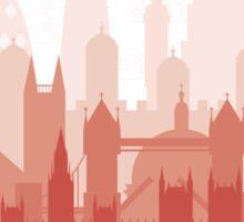 London City Skyline - white  Sticker