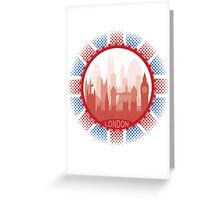 London City Skyline - white  Greeting Card