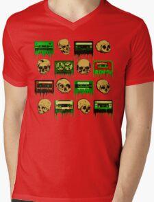 Skulls and creepy Tapes 2 Mens V-Neck T-Shirt